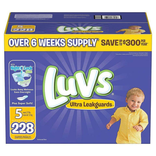 Luvs Ultra Leakguards Diapers (Size 5, 228 ct.) - EZneeds