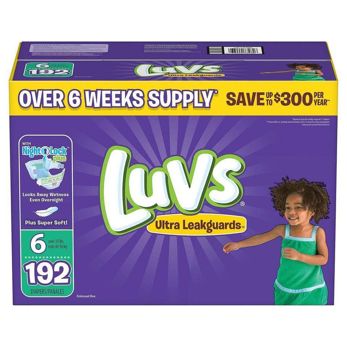 Luvs Ultra Leakguards Diapers (Size 6, 192 ct.) - EZneeds