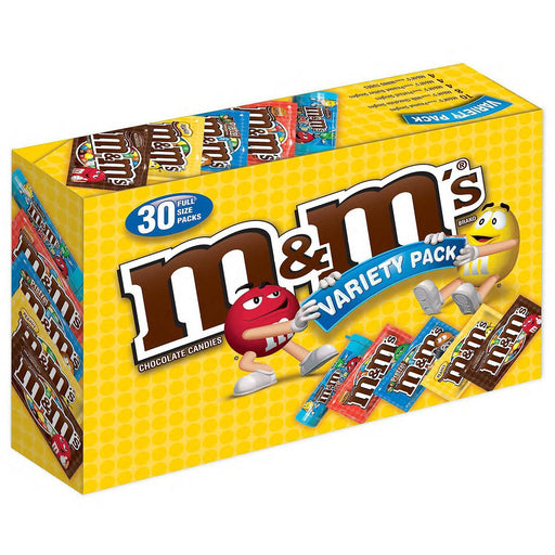 M&M's Chocolate Candies, Variety Pack (30 ct.)