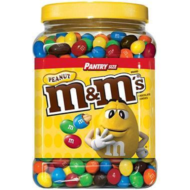 M&M's Peanut Chocolate Candy Pantry Size Jar (62 oz.)