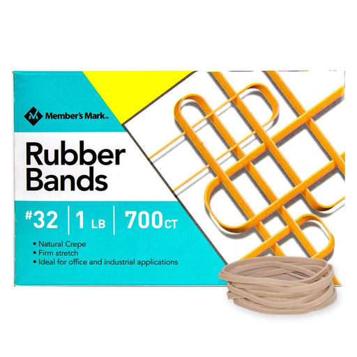 Rubber Bands, #32 1 lb Box (700 Bands) - EZneeds