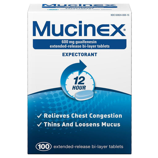 Mucinex Expectorant 12 Hour (100 ct.)