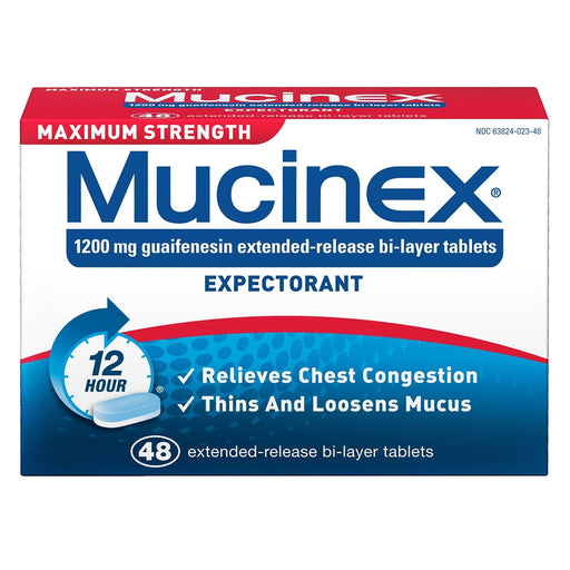 Mucinex Expectorant Maximum Strength (48 ct.)