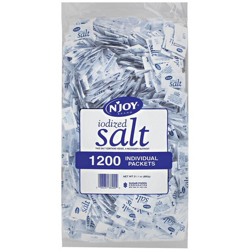 N'JOY Iodized Salt (0.5 g packets, 1,200 ct.)