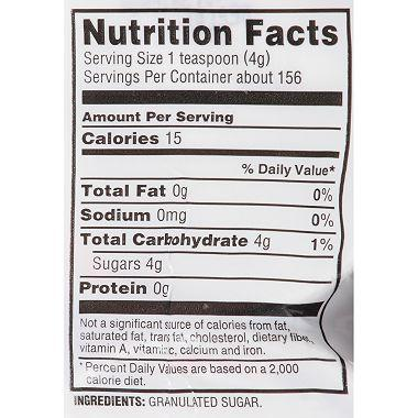 N'Joy Pure Sugar (22 oz. canisters, 8 pk.) Nutrition Facts