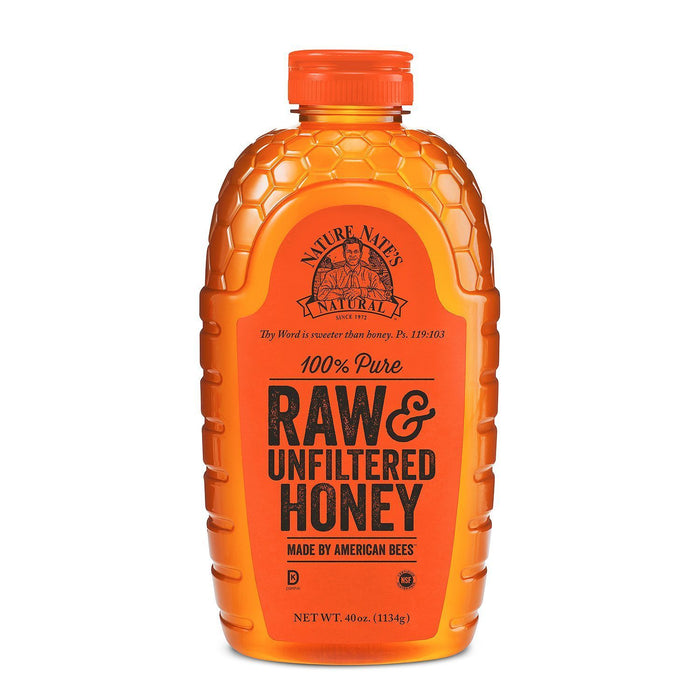 Nature Nate's 100% Pure Raw & Unfiltered Honey (40 oz.)