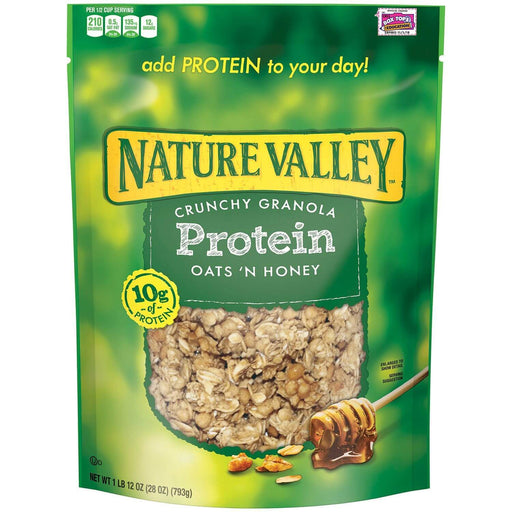 Nature Valley Oats 'n Honey Protein Crunchy Granola Cereal (28 oz.) - EZneeds