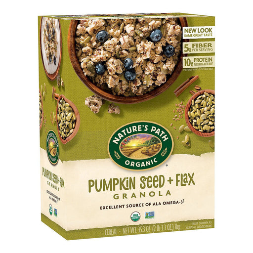 Nature's Path Organic Flax Plus Pumpkin Flax Granola (17.6 oz. box, 2 pk.)