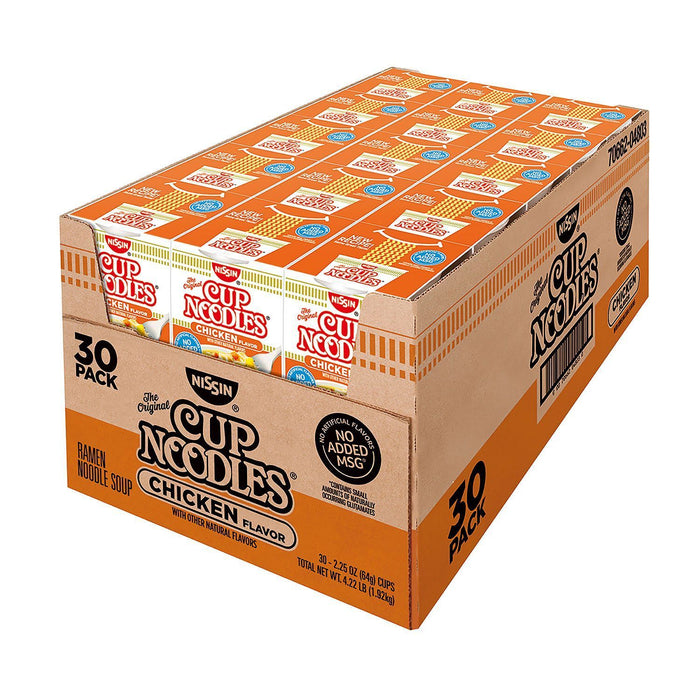 Nissin Chicken Cup Noodles (2.25 oz., 30 cups)