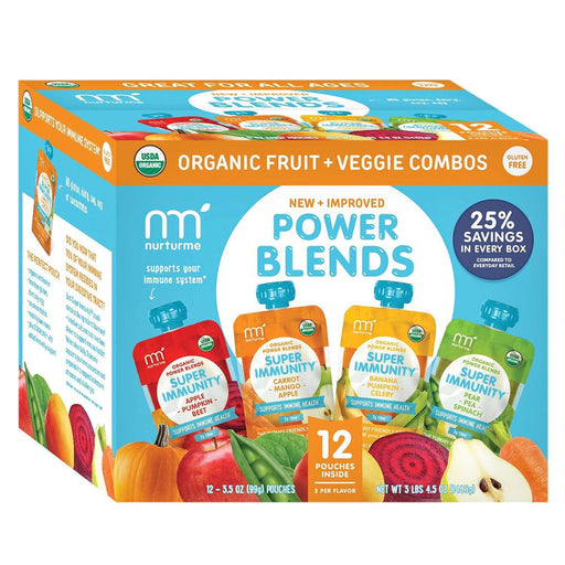 NurturMe Power Blends Fruit & Veggie Combos (3.5 oz., 12 ct.) - EZneeds