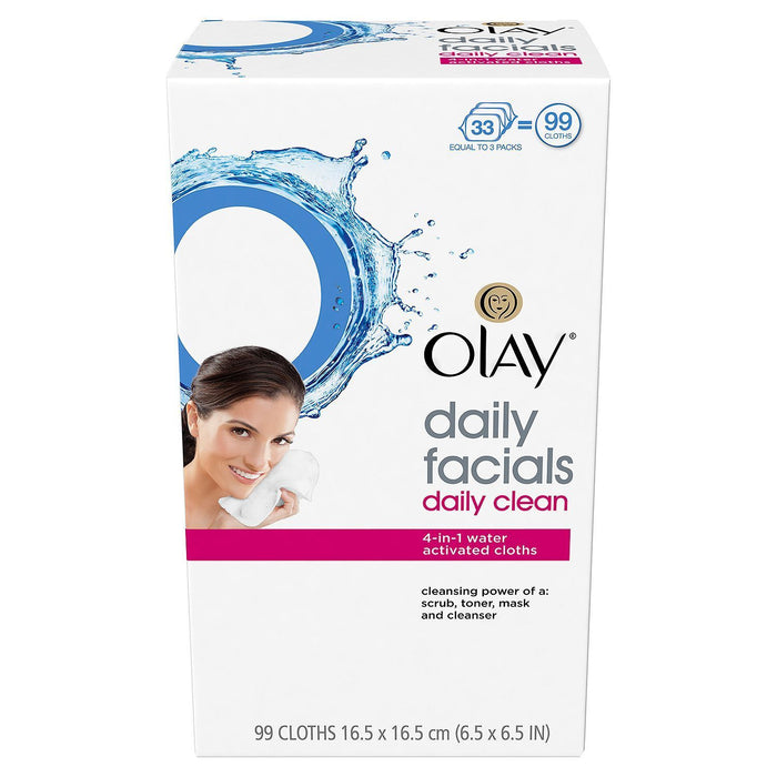 Olay 4-in-1 Daily Facial Cloths, Normal Skin (99 ct.)