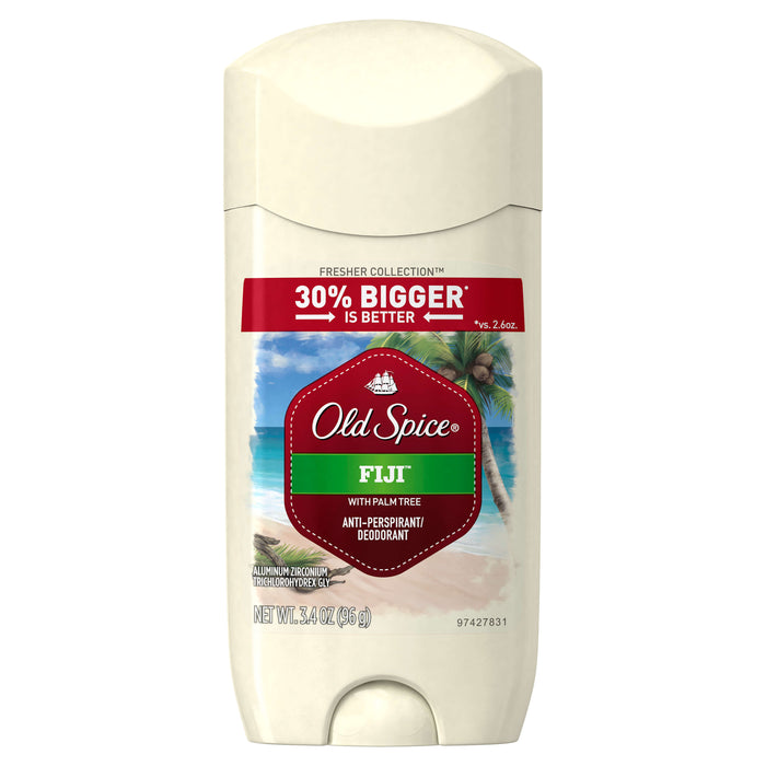 Old Spice Fresher Fiji Scent Invisible Solid Antiperspirant and Deodorant for Men (3.4 oz.)