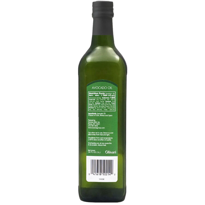 Olivari Avocado Oil (1 L) Nutrition Facts - EZneeds