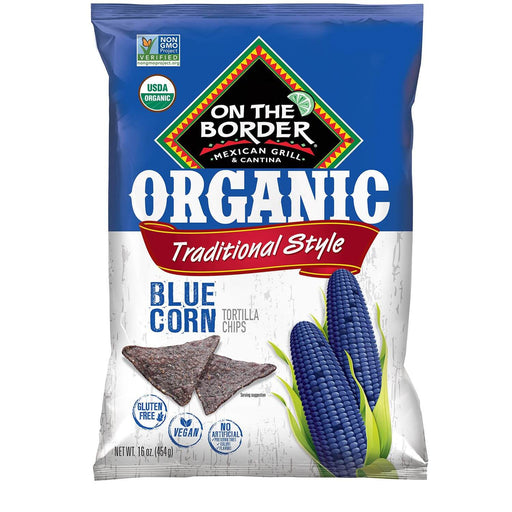 On The Border Organic Blue Corn Tortilla Chip (16 oz.)