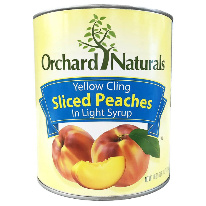 Orchard Naturals Yellow Cling Sliced Peaches in Light Syrup (106 oz.) - EZneeds