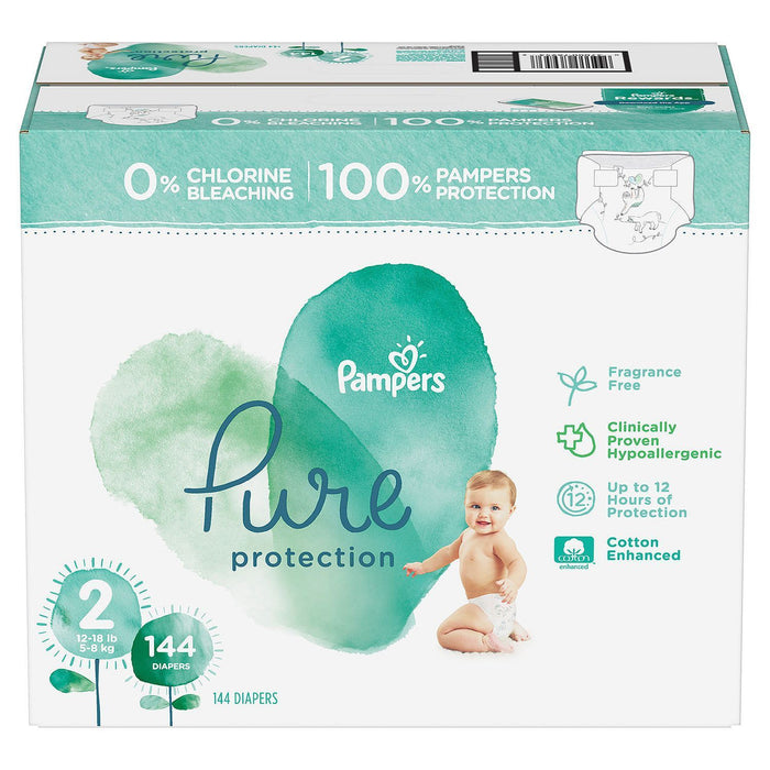 Pampers Pure Protection Diapers (Size 2, 12-18 lbs., 144 ct.)