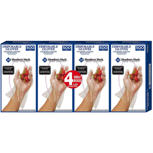Plastic Disposable Gloves (2,000 ct.)