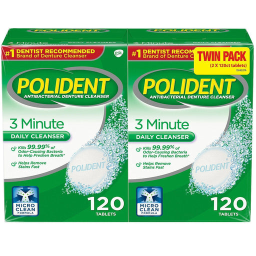 Polident's 3-Minute Denture Cleanser, Effervescent Tablets (240 ct.)