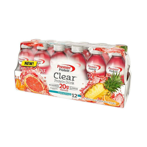 Premier Protein Clear Protein Drink, Tropical Punch (16.9 fl. oz., 12 pk.)