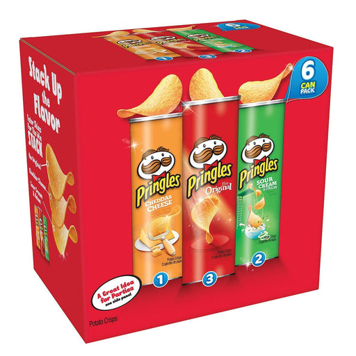 Pringles Super Stack Variety Pack (6 ct.)