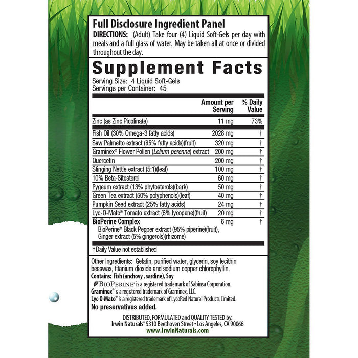 Prosta-Strong (180 ct.) Supplement Facts