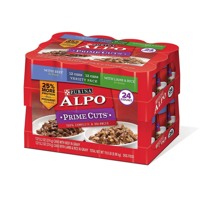 Purina Alpo Prime Cuts in Gravy, Variety Pack (13.2 oz., 24 ct.)