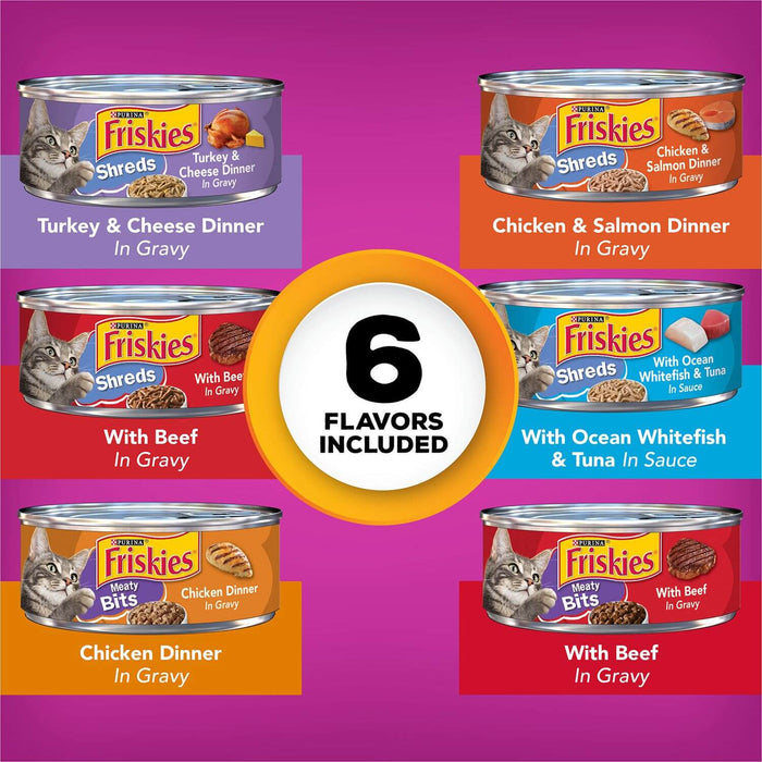 Purina Friskies Gravy Pleasers, Variety Pack (5.5 oz., 48 ct.)