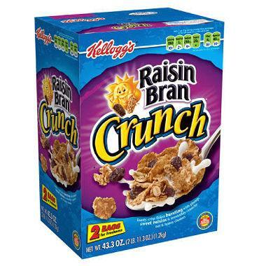 Kellogg's Raisin Bran Crunch Cereal (43.3 oz.)
