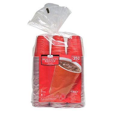 Red Plastic Cups (18 oz., 252 ct.)