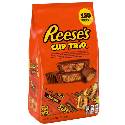 Reese's Peanut Butter Cup Trio Variety Pack (54 oz., 150 ct.) - EZneeds