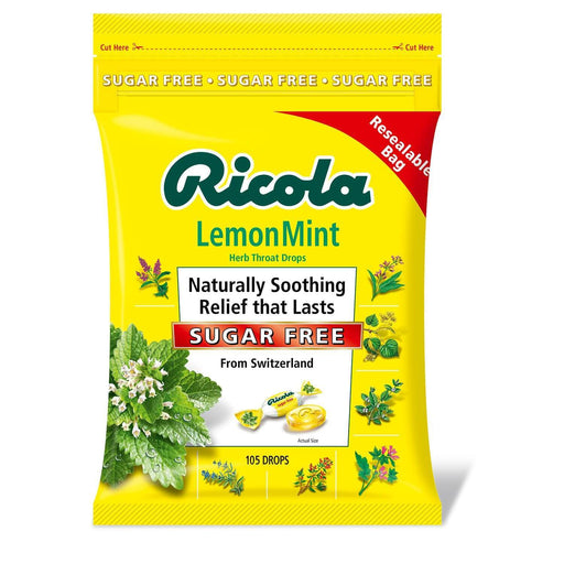 Ricola Sugar-Free Lemon Mint Herb Throat Drops (105 ct.) - EZneeds