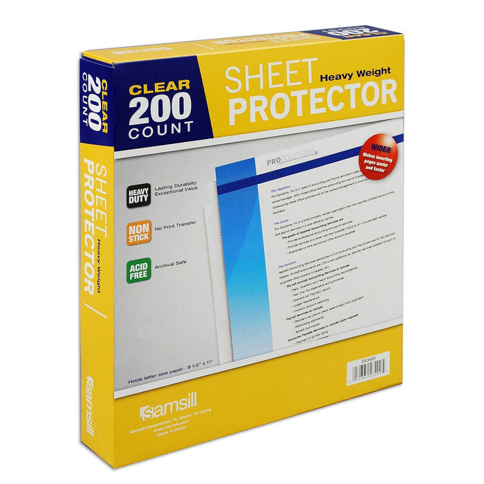 Samsill Clear Sheet Protectors (200 ct.)