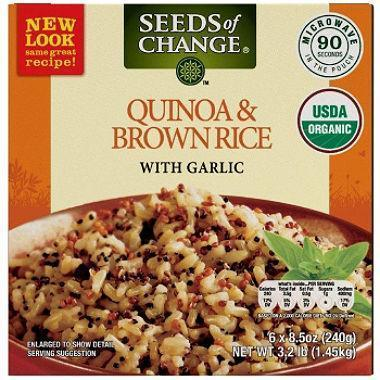 Seeds of Change Organic Quinoa and Brown Rice with Garlic (8.5 oz., 6 ct.) - EZneeds