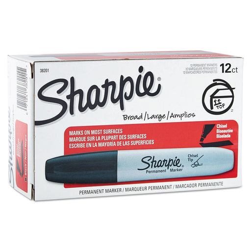 Sharpie Chisel Tip Permanent Markers, Black (12 ct.)