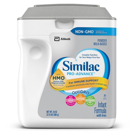 Similac Pro-Advance Powder Infant Formula with Iron, with 2'-FL HMO (34 oz.)