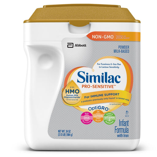 Similac Pro-Sensitive Powder Infant Formula with Iron, with 2'-FL HMO (34 oz.)