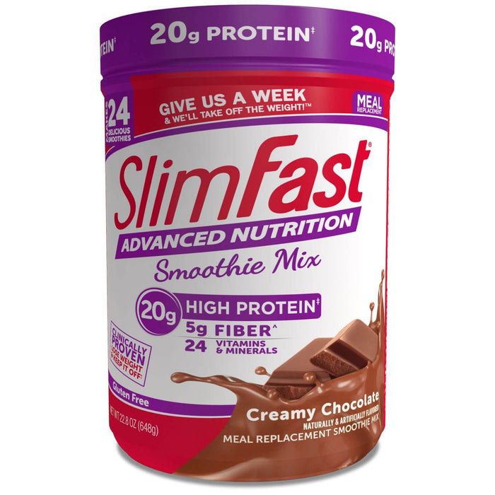 SlimFast Advanced Nutrition Creamy Chocolate High Protein Smoothie Mix (22.02 oz.) - EZneeds