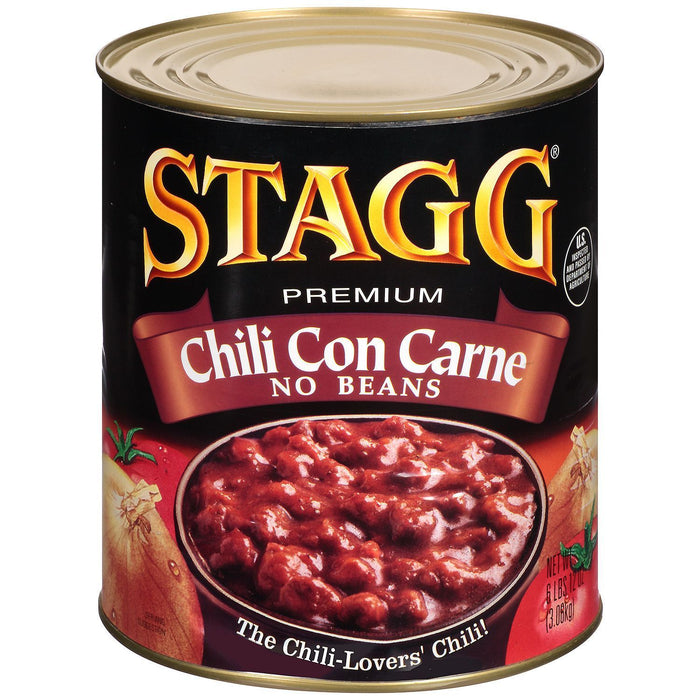 Stagg Chili Con Carne No Beans (108 oz. can)