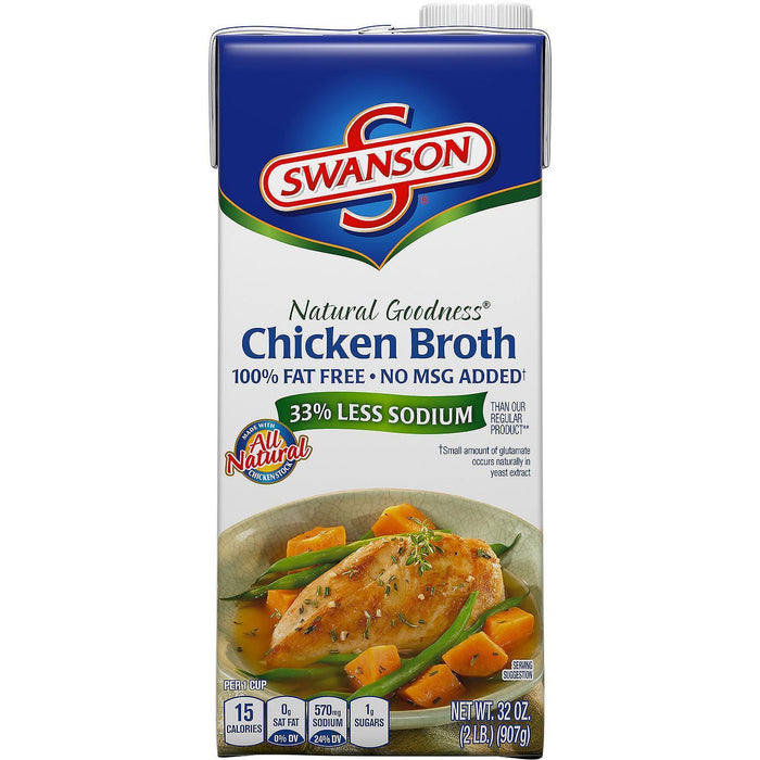 Swanson Natural Goodness Chicken Broth (32 oz.)