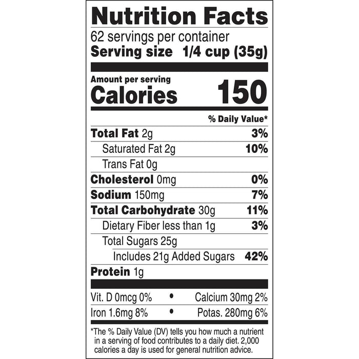 Swiss Miss Milk Chocolate Hot Cocoa Mix Canister (76.5 oz.) Nutritional Facts - EZneeds