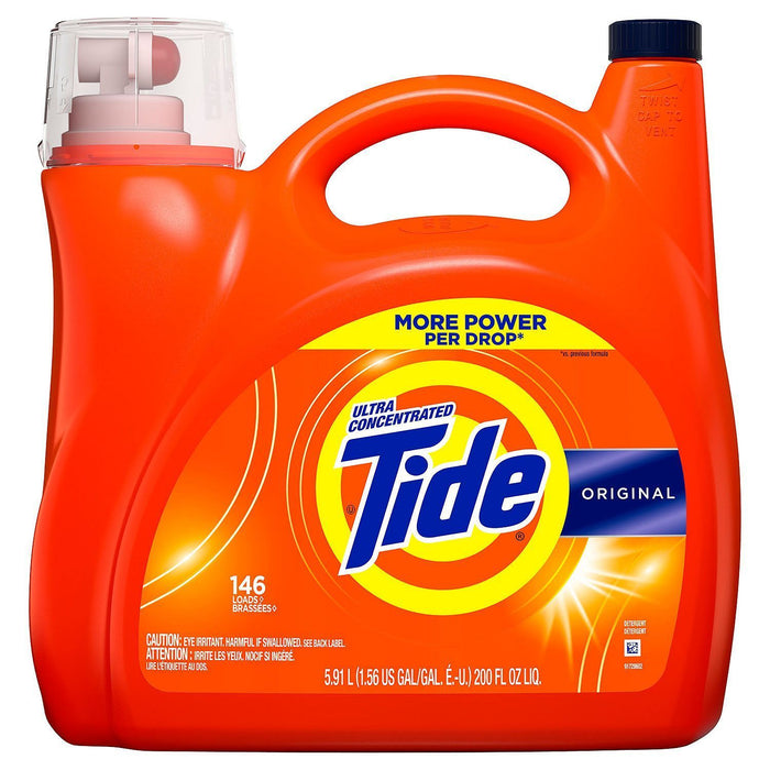 Tide Ultra Concentrated Liquid Laundry Detergent, Original (146 loads, 200 oz.) - EZneeds