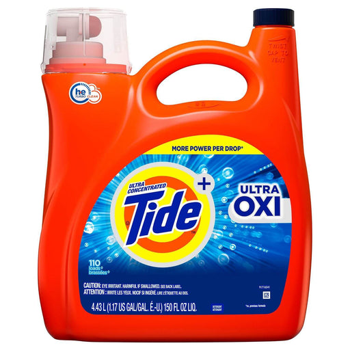 Tide Ultra Oxi HE Liquid Laundry Detergent (110 Loads, 150 oz.) - EZneeds