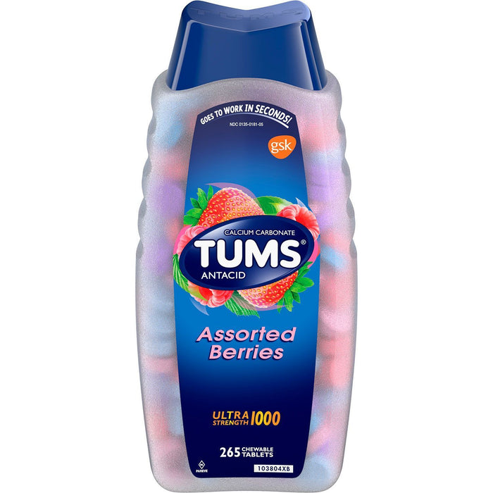 Tums Ultra Strength 1000 Chewable Tablets, Berries (265 ct.)