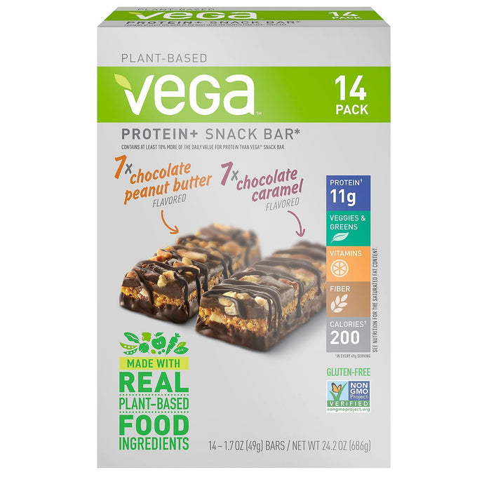 Vega Protein+ Snack Bar Variety Pack (14 bars)