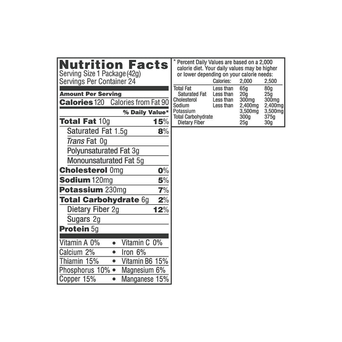 Wonderful Roasted and Salted Pistachios (1.5 oz., 24 pk.) Nutritional Facts