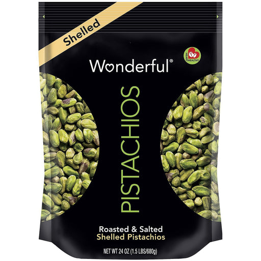 Wonderful Roasted & Salted Shelled Pistachios (24 oz.)