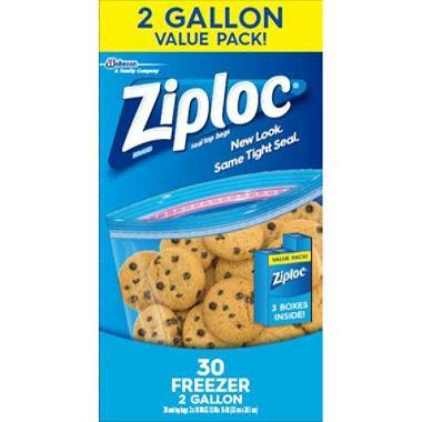 Ziploc Freezer Bags, 2 Gallon (30 ct.)