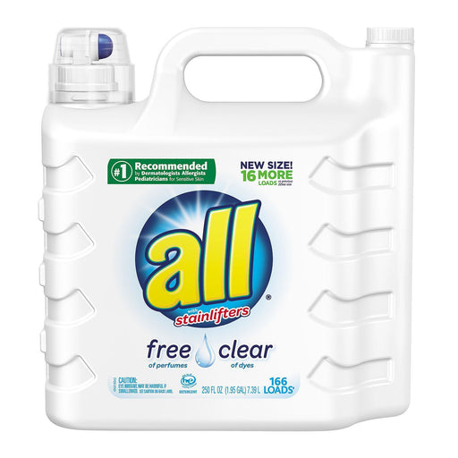 all 2X Ultra with Stainlifter Free & Clear (250 oz., 166 loads) - EZneeds