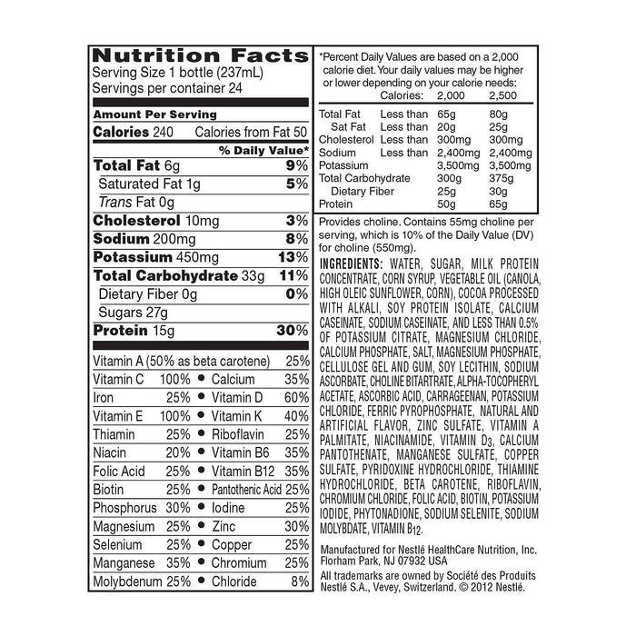 BOOST High Protein Drink, Chocolate (8 fl. oz., 24 pk.) - EZneeds