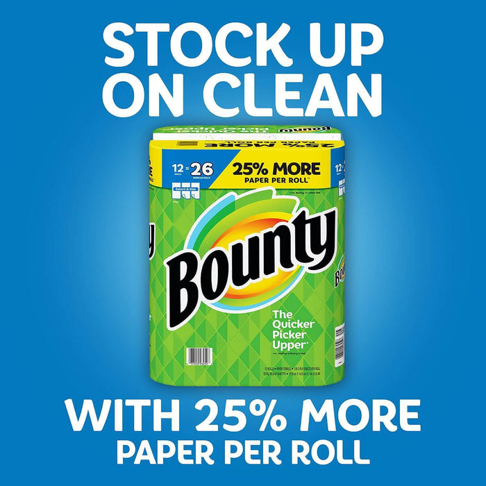 Bounty Select-A-Size Paper Towels, White (12 rolls, 120 2-ply sheets/roll) - EZneeds